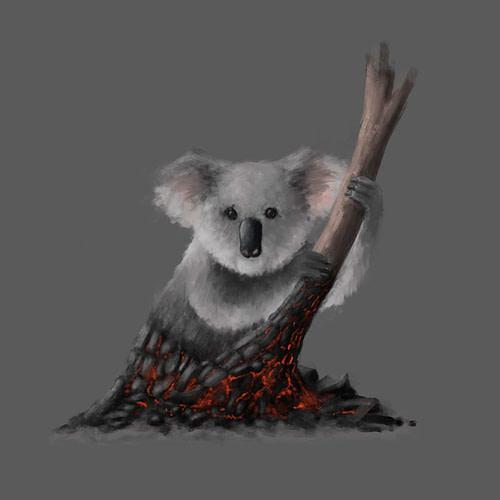 Claudio-Errico-digital-artist-art-milano-napoli-computer-grafica-3d-advertising-pubblicita-produzione-wwf_campaign-australia-koala-burn-coal-sketch